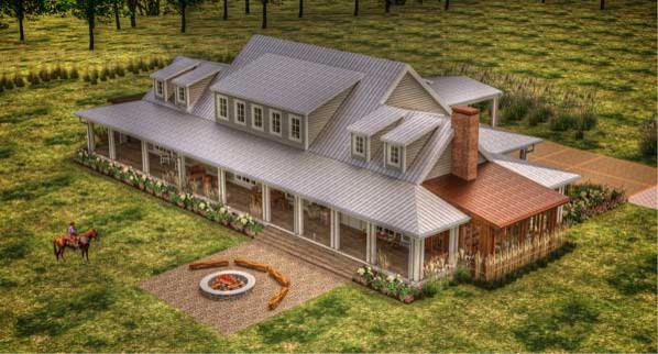Bon Aqua, Tennessee Porch House traditional-rendering