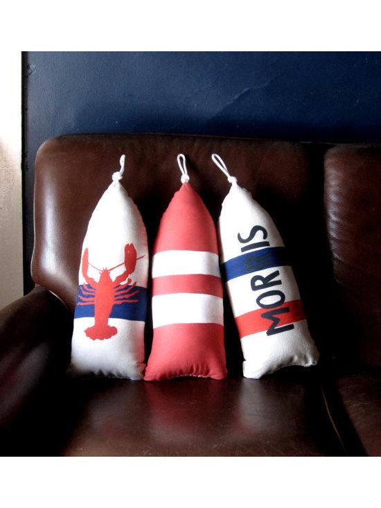 Maine Lobster Buoy Pillow by Cobalt Sky Studio -