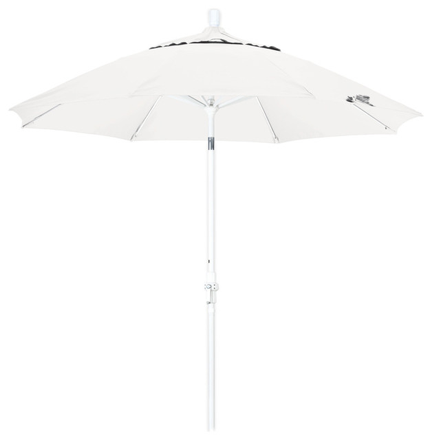 aluminum patio umbrella with white pole contemporary outdoor umbrellas