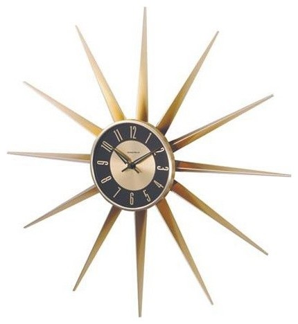 Kirch Sunshine 24 Inch Wall Clock Gold Modern Clocks