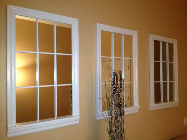 9 lite white mirror windows contemporary orange county for Mirror that look