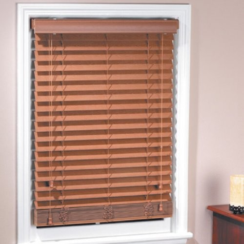 Achim Madera Falsa 2 in. Faux Wood Plantation Blind contemporary-window-blinds