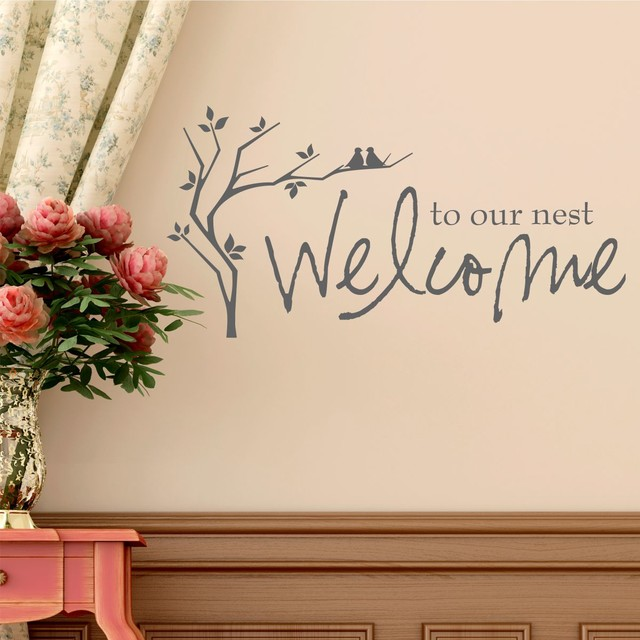 Traditional Foyer Quotes : Welcome entryway wall quotes quotesgram