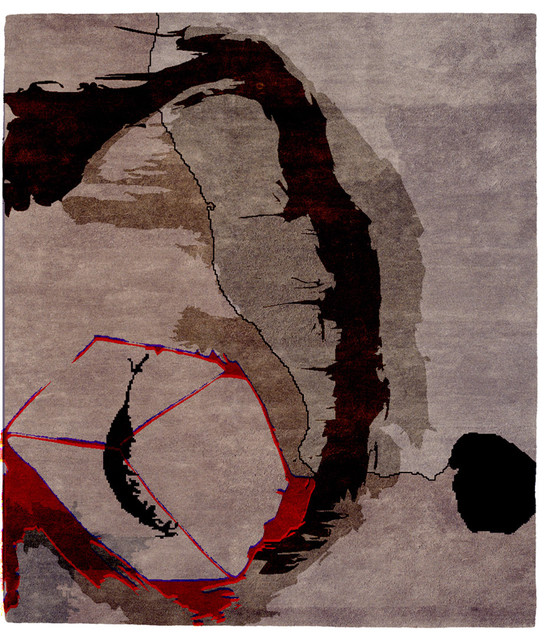 Christopher Wynter Art Rug Ivory: Christopher Fareed ModernRugs.com Exclusive