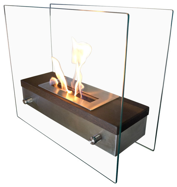 Foreste Ardore Portable Tabletop Ethanol Fireplace Modern Tabletop Fireplaces By Bluworld