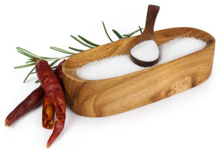 Bambeco Teak Salt and Pepper Oval Cellar with Spoon - Tropical - Salt ...