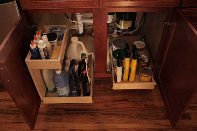 Kitchen Pull Out Shelves with Risers - Kitchen Drawer Organizers - other metro - by ShelfGenie ...