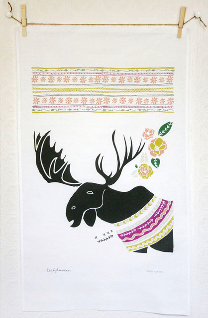 Moose Tea Towel eclectic-dish-towels