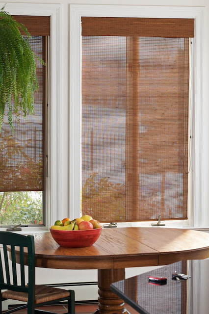 Blinds.com Brand Bamboo Roller Shades tropical-kitchen