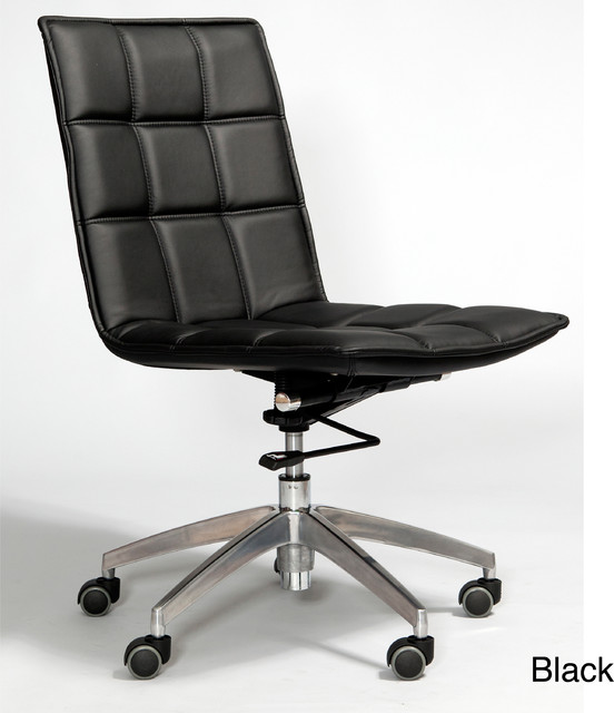 Gates Leatherette Adjustable Height Swivel Office Chair Contemporary Offi