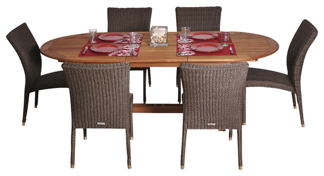 Le Mans 7-Piece Dining Set contemporary-dining-sets