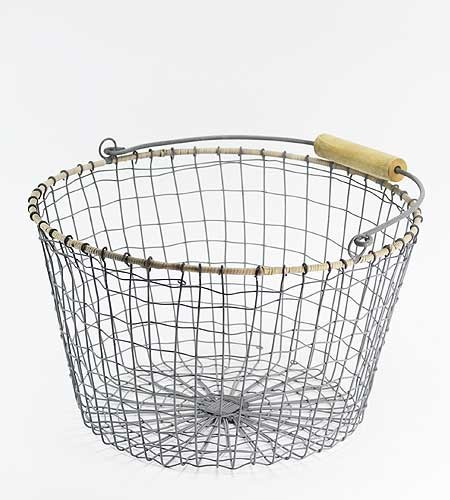 Wire Basket, Round traditional-baskets