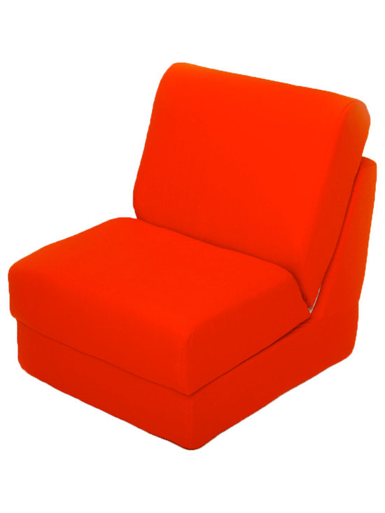 """Fun Furnishings - Fun Furnishings Canvas Teen Chair in Orange - What a great place to plop down and relax. Each bag come with a handy pocket to store the clicker or any other prized possession. The outer cover is removable for cleaning. The inner liner bag securely contains new fire retardant �beads"""" and is refillable too. Cleaning the cover. We use only fine upholstery-grade fabrics that can take lots of use from kids. Our micro Suede's, denims and chenille's are all washable."""