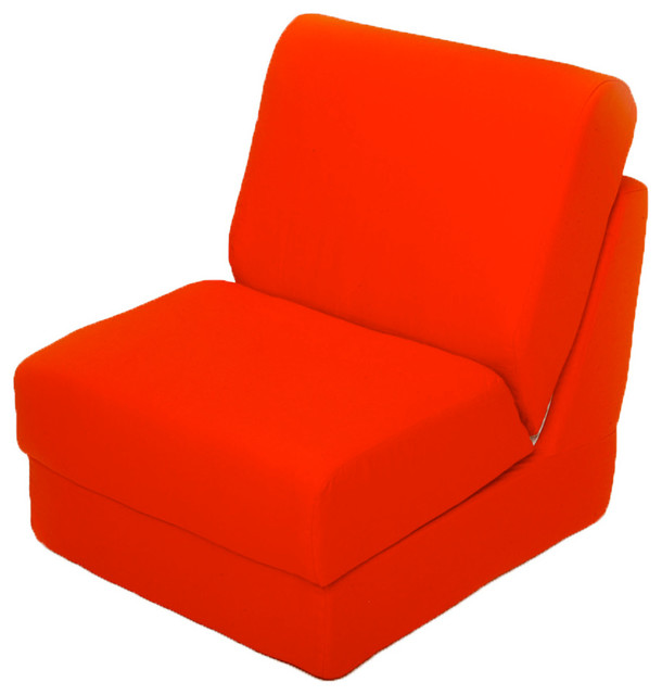 Fun Furnishings Canvas Teen Chair in Orange traditional-kids-chairs
