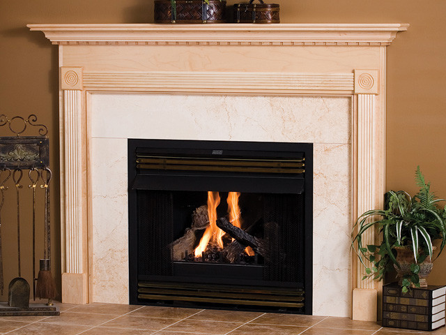 Algonquin Wood Fireplace Mantel Traditional Indoor