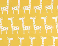 Premier Prints Gisella Slub White/ Yellow Fabric contemporary fabric