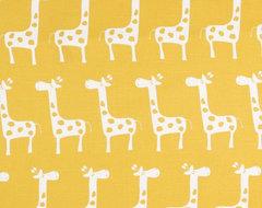 Premier Prints Gisella Slub White/ Yellow Fabric contemporary-fabric