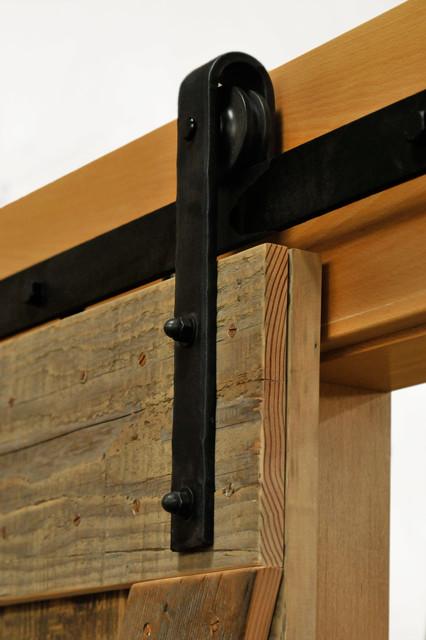 Hammered Barn Door Hardware Kit rustic-barn-door-hardware