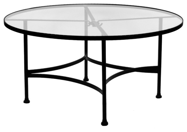 """Round Glass Dining Table 48 Inches: Classico 48""""Rd. Round Glass Top Dining Table"""