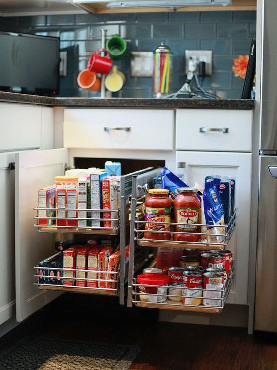 Clean Cut Dover Kitchen - Blind Corner Pull Out Organizer.