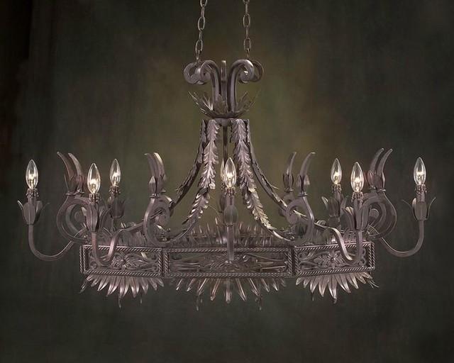 John Richard 8 Light Chandelier AJC-8365 contemporary-chandeliers