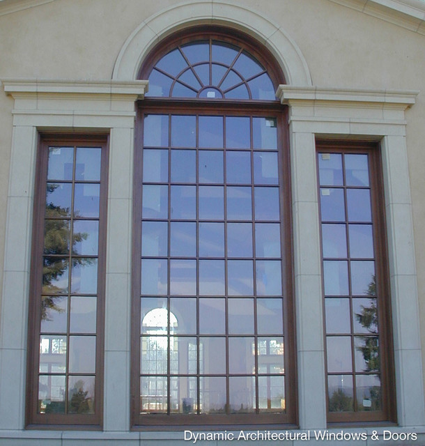 Over sized palladian style wood windows traditional for Architecture windows