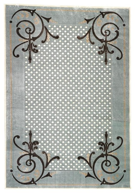 Martha stewart living scrollwork area rug traditional for Martha stewart rugs home decorators