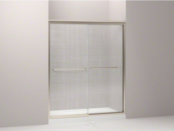 "KOHLER Fluence(R) sliding shower door, 70-5/16"" H x 56-5/8 - 59-5/8"" W, with 1/4 contemporary-bath-products"
