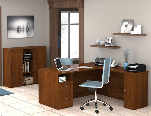 Mason Corner Desk with Storage Cabinet - Modern - Home Office Accessories - by Wayfair