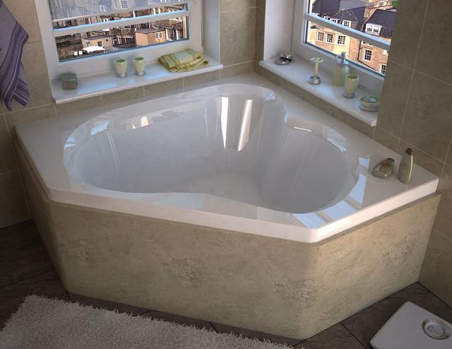 Venzi Tovila 60 X 60 Corner Soaking Bathtub Modern Bathtubs By Luxvanity