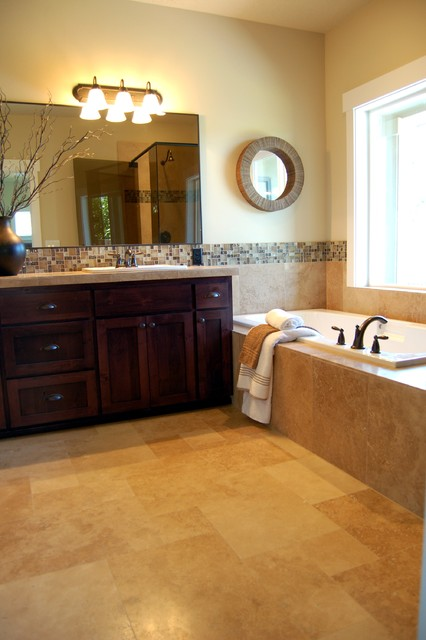 Tour Houses - Bathrooms traditional-floor-tiles