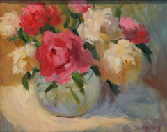 Peonies Framed Oil Painting traditional originals and limited editions