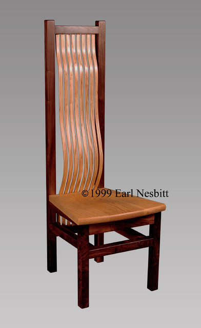 Wavy slat chair contemporary-chairs