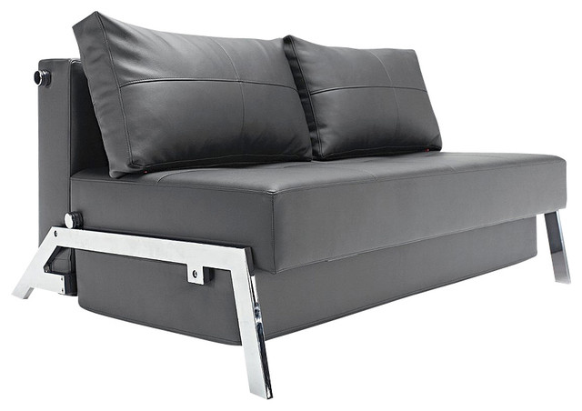 """""""Innovation USA"""" Cubed Deluxe Sofa Bed in Black Leather Textile modern-sofa-beds"""