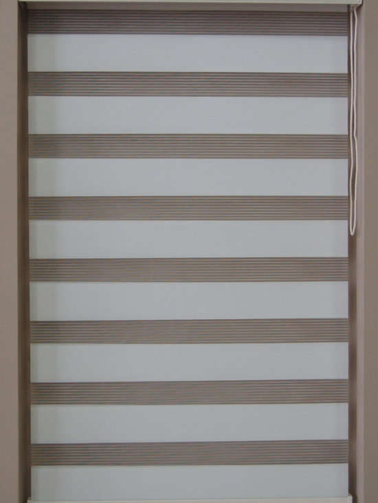 "CustomWindowDecor - Dual Shade, Soft, 22""-37""W x 84"" L, White, 23-1/8"" W - Dual shade is new style of window treatment that is combined good aspect of blinds and roller shades"