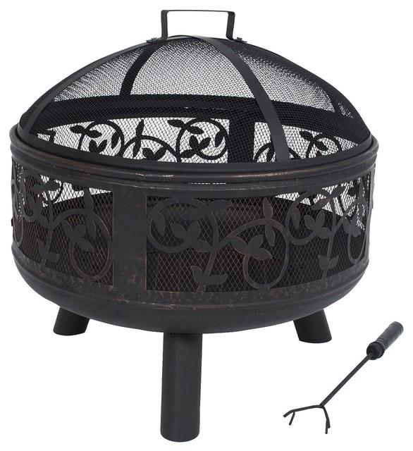 la hacienda indiana firebowl contemporary fire pits. Black Bedroom Furniture Sets. Home Design Ideas