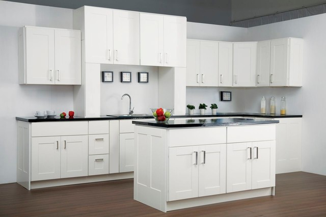 Findley & Myers Malibu White Kitchen Cabinets - Modern - detroit - by Cabinets To Go