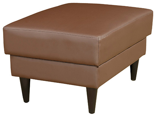 Cool Faux Leather Ottoman Contemporary Ottomans And