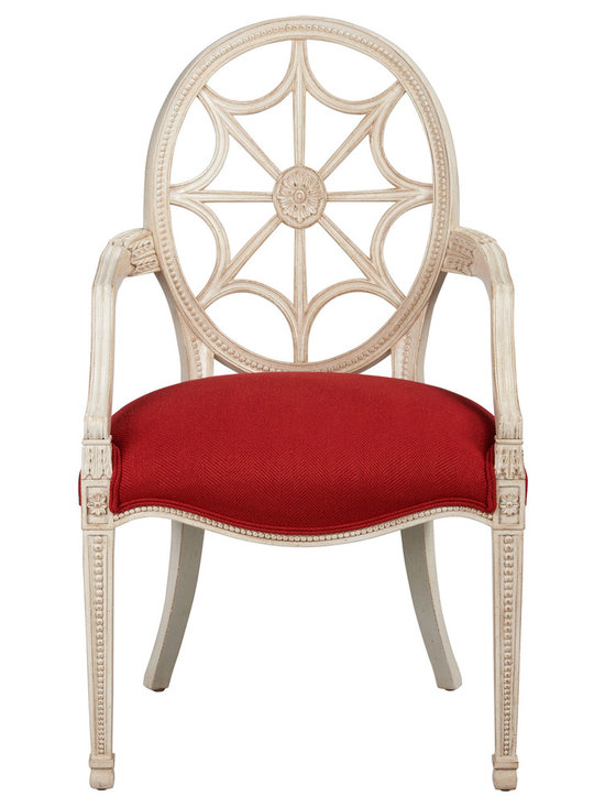 Ethan Allen - Cristal Chair - A stunning style statement with graceful form and a dynamic carved back and legs. An eclectic addition to any room.