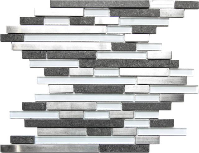 Metal Mosaic Tile For Bathroom Backsplahes contemporary-mosaic-tile