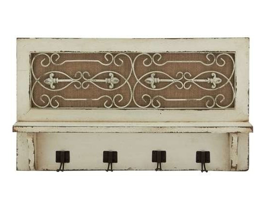 BZBZ20421 - Traditional Wood Wall Hook with Top Shelf - Traditional wood wall hook with top shelf. Bring some old world charm into your home with this exquisitely crafted wood wall hook. Some assembly may be required.