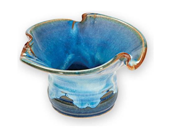 Blue Lotus Ikebana Vase -