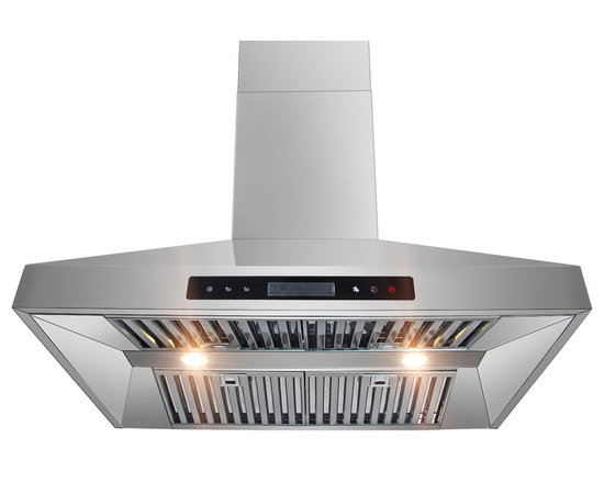 """AKDY - AKDY AG-Z10A3 Euro Stainless Steel Wall Mount Range Hood, 30"""" - AKDY products offer the best in contemporary design matched with the latest in appliance technologies to transform the way you live. Sporting a bold, dramatic look and state of the art features, this collection provides the perfect combination of style and innovation throughout your kitchen. The AKDY 10A3 wall mount range hood features 900 CFM centrifugal blower, 6 fan speeds with ultra quiet operation perfectly for heavy cookers. Optional recirculating kits are available. Model available in 30"""" and 36"""""""