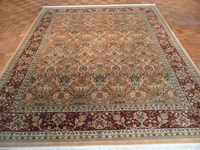 8 X 10 Hand Knotted Fine William Morris Rug Victorian