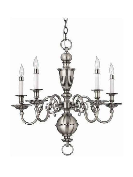 Hinkley Lighting 4415PW 5 Light Chandelier Cambridge Collection -