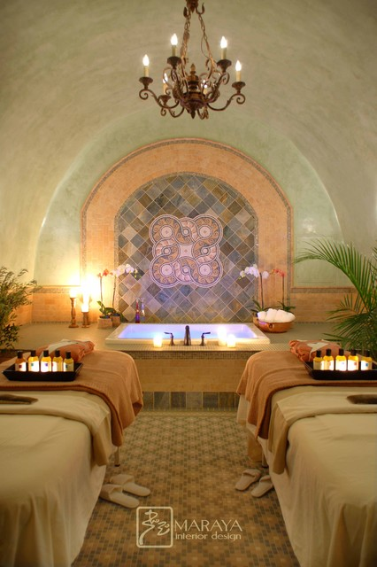 Massage Therapy Room Design Ideas: Spa Room Italian Tuscan Style Traditional-bathroom