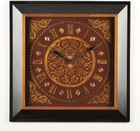 Burgundy Gold Wall Clock Traditional Wall Clocks