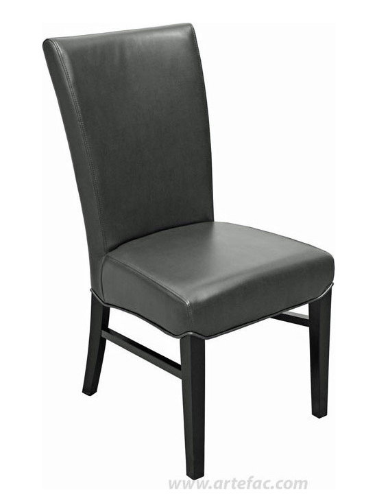 "ARTEFAC - 2 - R-1045 Restaurant Quality Leather Dining Chair, Brown Leather, H-39"" X W-19"" - One of the most comfortable chairs in our collection, this fan back Restaurant quality Leather Dining Chair is on a special promotional price. Made of commercial grade bonded leather, Kiln Dried Solid Hardwood Frame, High Density Foam with Pirelli straps, this chair has been top choice for many restaurants. Comes fully assembled. Set of 2."