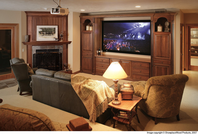 Showplace Cabinets - Living Room traditional-home-theater