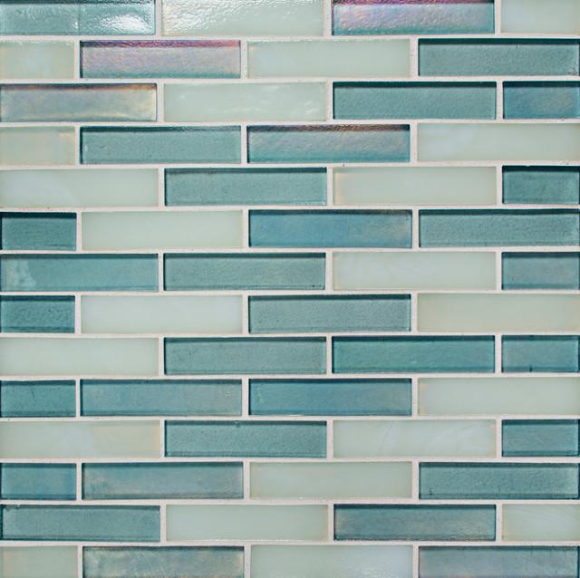 Artistic Tile Oceanside Blue Collection Ascent Rectangle